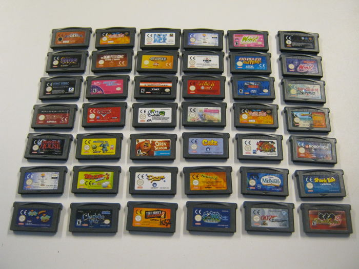 Lot of 42 Gameboy Advance Games like: Monster house + Spyro + spiderman +2x Winx + Tombraider and more