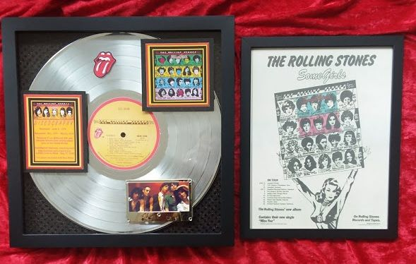 "Rolling Stones ""SOME GIRLS"" Platinum Award 6X-Certified 2000 Authentic Award"