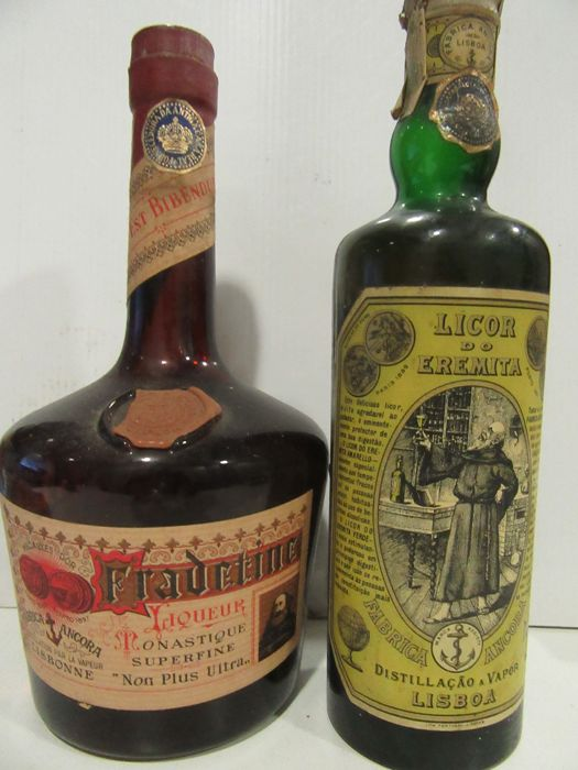 2 Bottles: Licor Fradetine Monastique Superfine & Licor do Eremita Fábrica Ancora