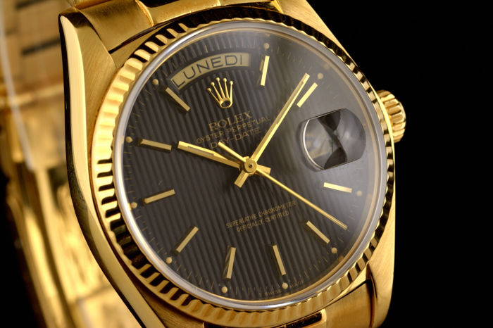 "Rolex - President Oyster Perpetual Day Date ""tapestry dial"" - Ref. 18038 - Heren - 1970-1979"