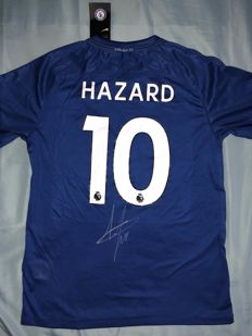0f6d904bcae Eden Hazard Hand Signed Chelsea F.C. Shirt Proof