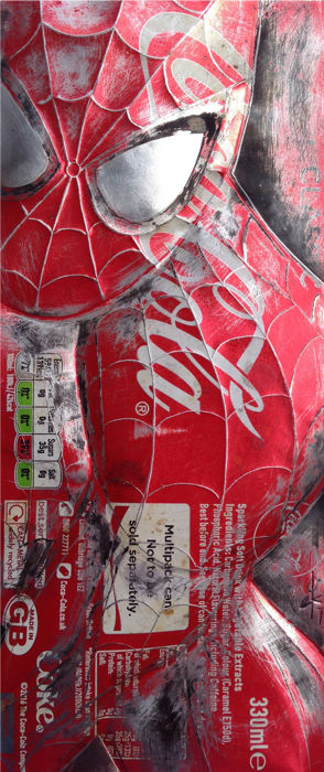 Hand Signed PRINT - By Chris Duncan - SPIDERMAN on COKE CAN - 2017