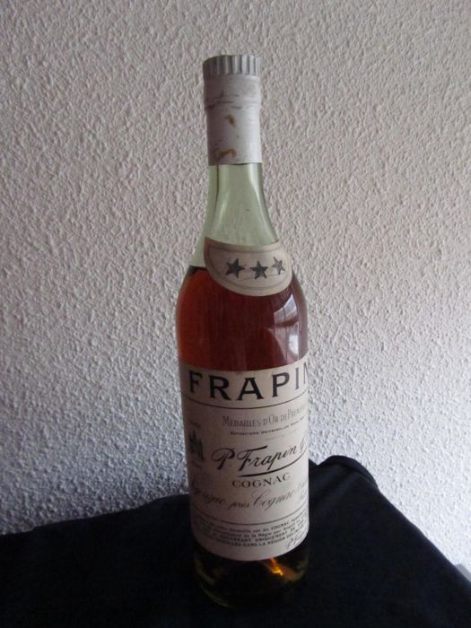Frapin Three Star Cognac, bottled 1950s, Rare bottle