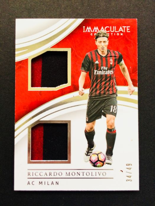 Panini - Ricardo Montolivo #18 - Player Match Worn Jersey Card Used in a AC Milan Official Game - Limited Edition 34/49 - Certificate of Authenticity by Panini