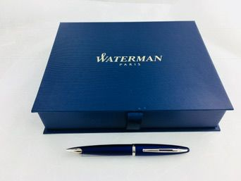 Waterman Carene Vivid Blue mechanical pencil in gift box with Waterman notebook