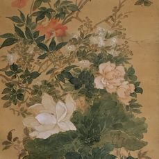 Very beautiful and old detailed scroll painting - Signed and sealed 'Shutei' 秋亭 (?) - Japan - 1922