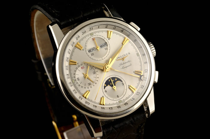 Longines -  Specially Conquest Automatic Day Date Moonphase -  L1 642 4 - Heren - 2000-2010