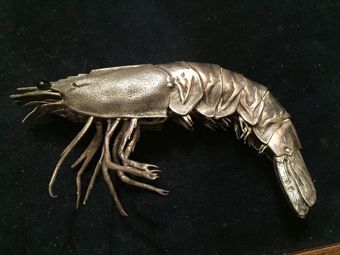 Articulated silver king prawn