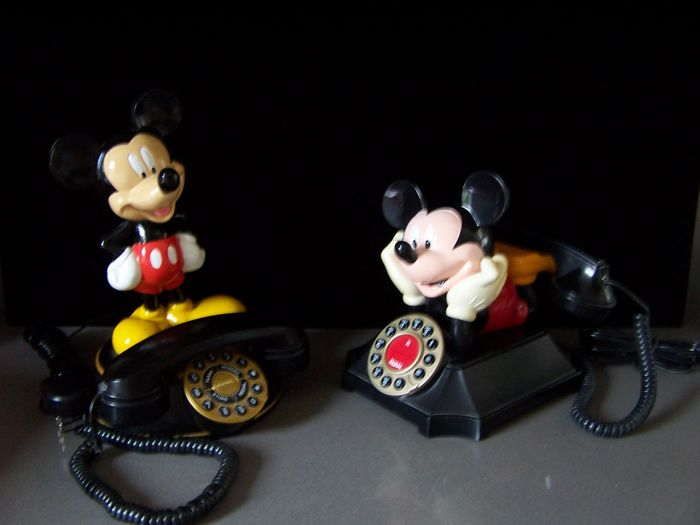 Disney - 2 Telefoons Superphone Holland - Mickey Mouse (jaren '80/'90)