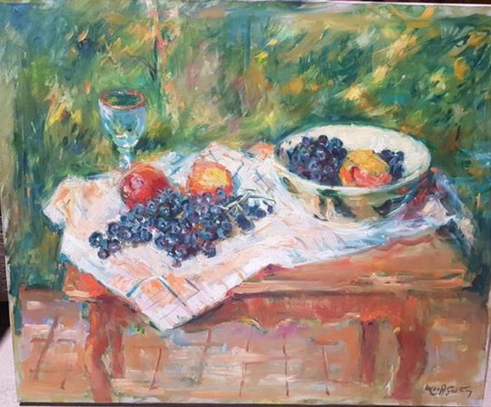 Max AGOSTINI 1914-1997 - Composition aux fruits sur une table