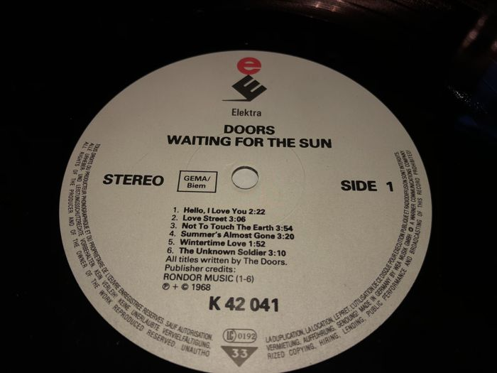 The Doors - Lot Of Their 4 Great Records; Waiting For The Sun+Strange Days+L.A. Woman+Alive She Cried : doors records - pezcame.com