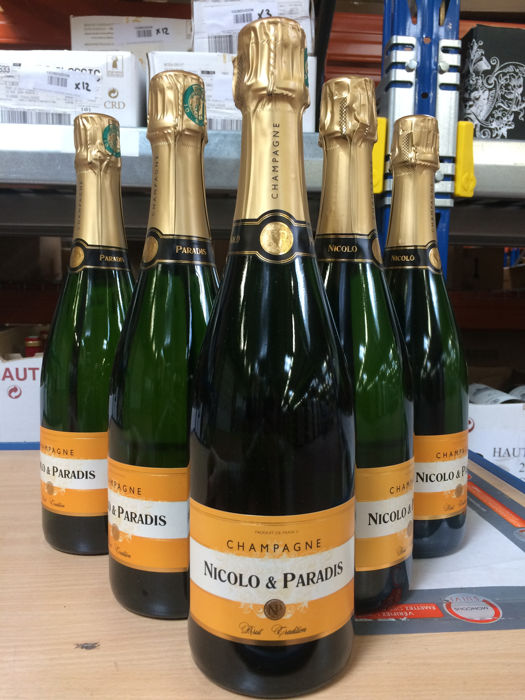 Nicolo & Paradis Brut Tradition Champagne - 6 bottles