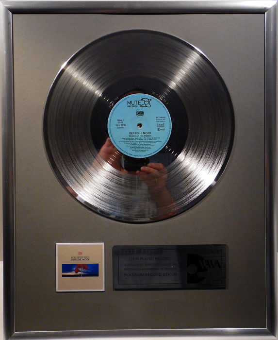 "Depeche Mode - Music for the Masses  - 12"" Mute Record platinum plated record by WWA Awards"