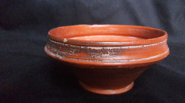 Ancient Roman Pottery / Flanged Bowl - D. 110 mm