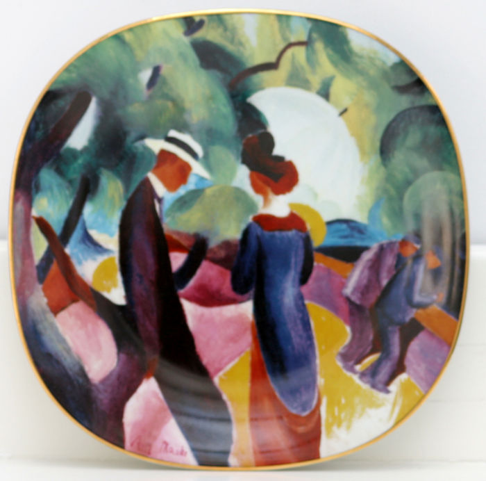 Rosenthal Complete set: Four plates, August Macke Catawiki
