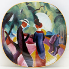 Rosenthal - Complete set: Four plates, August Macke