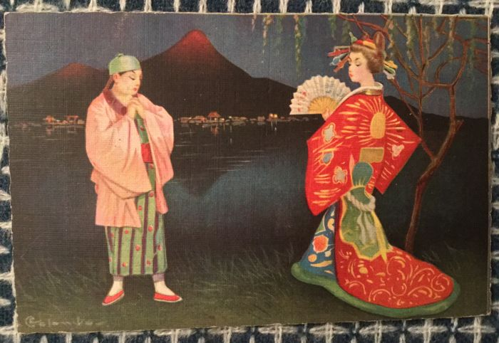 Lot of 22 old 'PREMIUM' postcards, Art Nouveau period - theme: ASIA - 1910/1930