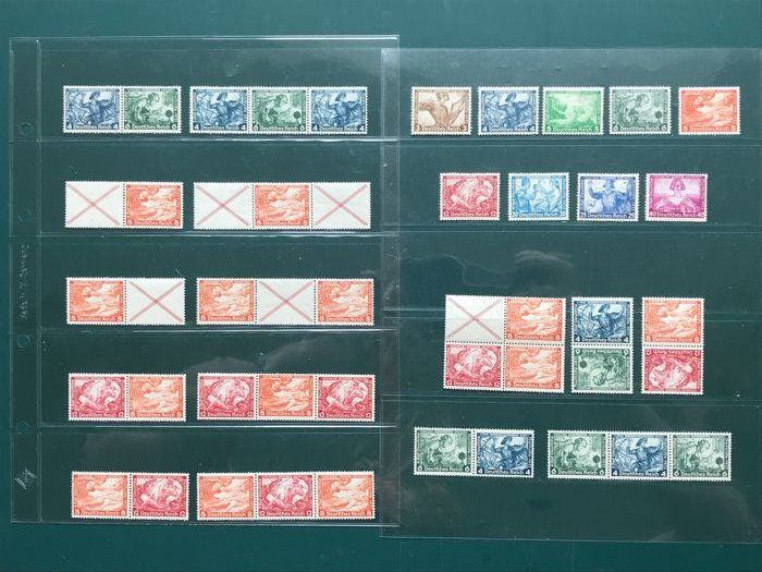 German empire 1933 - Complete emission Wagner including all combinations - Michel 499/507
