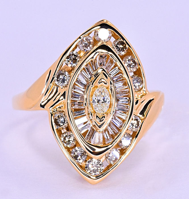 1,48ct Diamond marquise ring ***NO RESERVE price!***