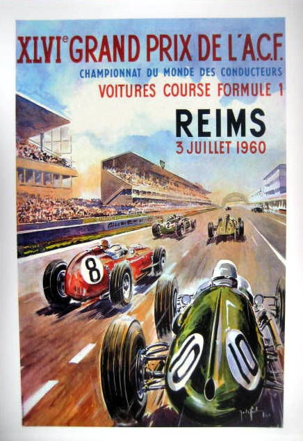 Decorative object - Grand Prix L'A.C.F Reims 1960 - 1960 (1 items)
