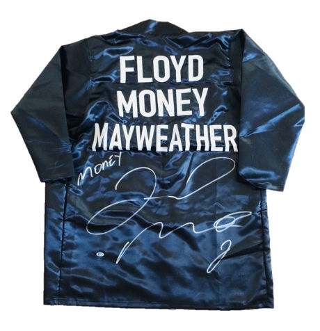 Floyd Mayweather - Authentic & Original Signed Autograph in a Custom Black Boxing Robe - with Certificate of Authenticity BECKETT Witnessed