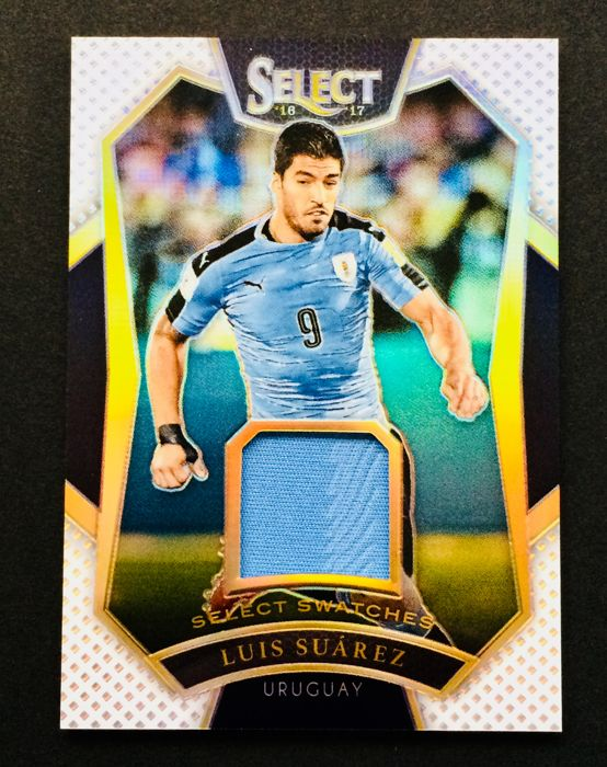 Panini - Luis Suarez #9 - Player Match Worn Jersey Card - Used in a Uruguay Official Game - Limited Edition 28/99 - Certificate of Authenticity by Panini