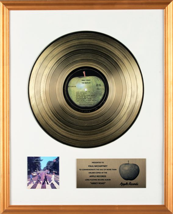 "The Beatles - ""Abbey Road"" Gold Record In-House Award Presented To Paul McCartney"