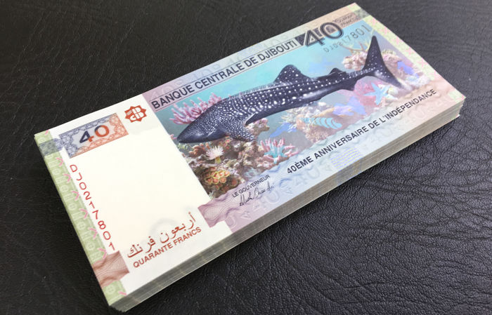Djibouti- 100 X 40 Francs -2017 ,P-NEW Anniversary of Independence
