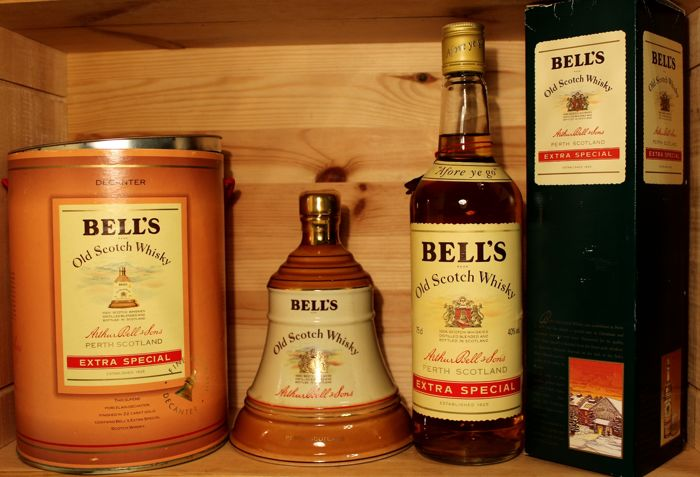 """2 bottles - Bell's Decanter Old Scotch Whisky 37.5cl & Bell´s """"Afore ye go"""" 75cl"""