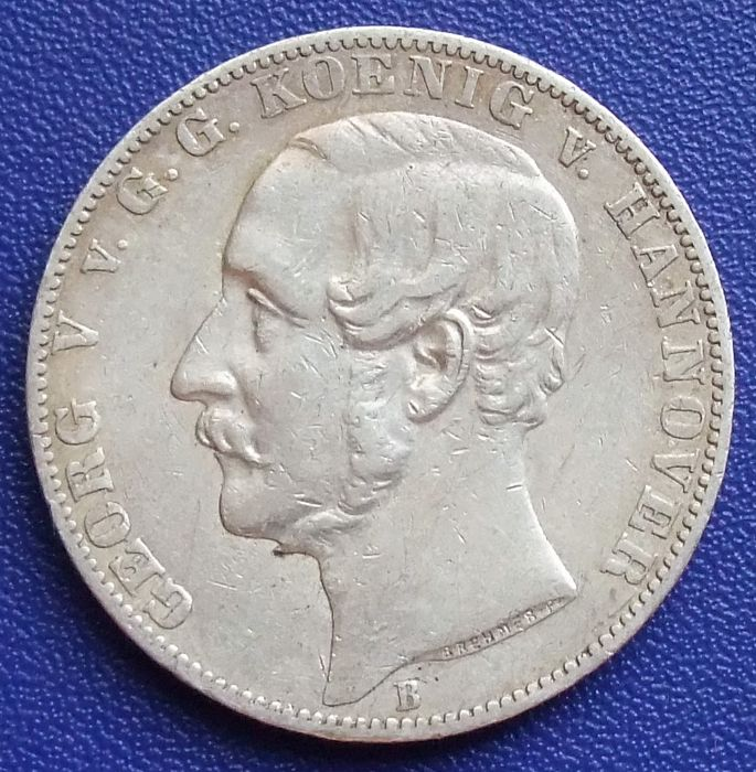 Old Germany, Hannover - Georg V - Union thaler 1866 - silver