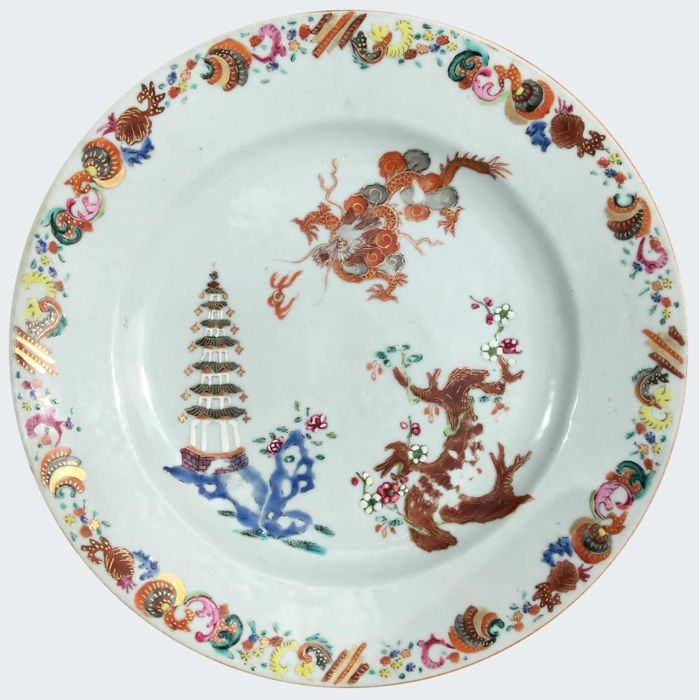 Famille rose plate - China - ca. 1740 (Qianlong period)