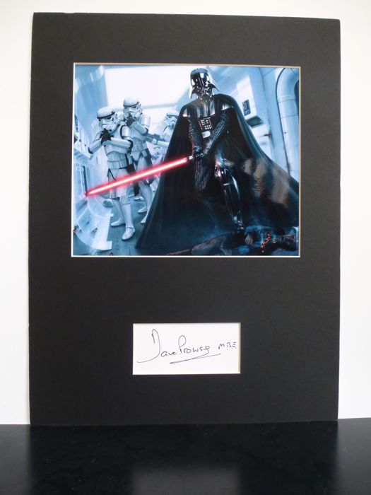 Star Wars Darth Vader Photo with original David Prowse signature includes COA