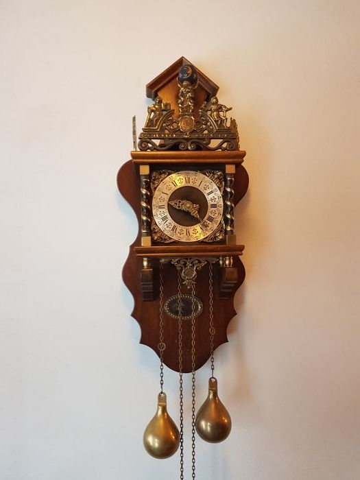 Large Zaandam clock with clockwork by FHS - circa 1950/1960 - in a  beautiful, original condition