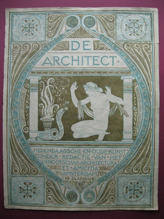 Grafiek; Richard Roland Holst - De architect 1911, plus 2 programmaboekjes 1921