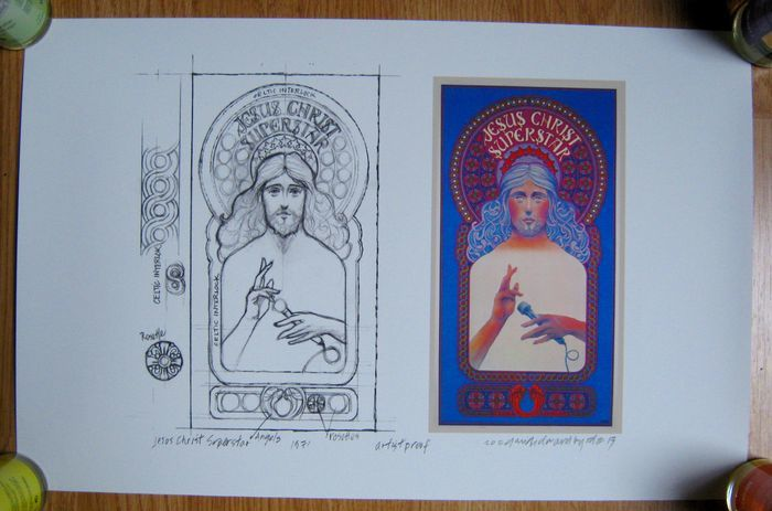 Jesus Christ Superstar - 1971 - image + sketch - David Byrd - This Artist Proof is an authentic