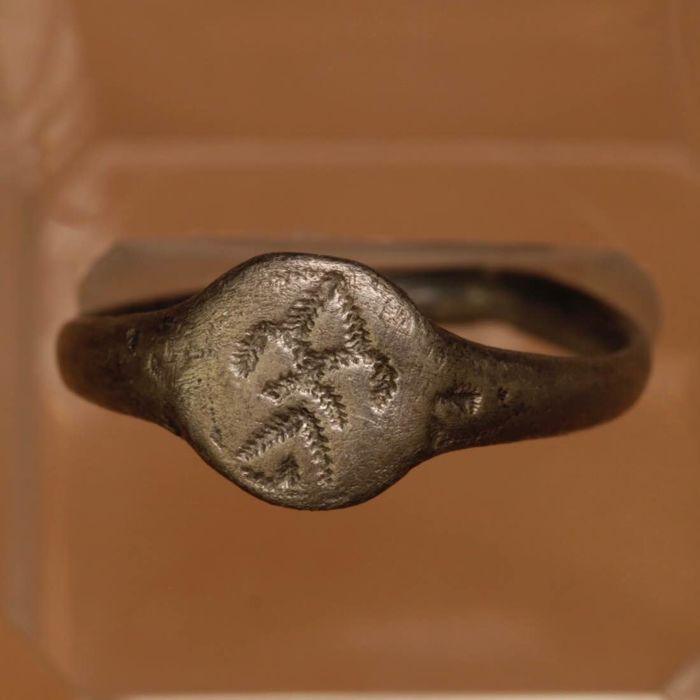 Celtic Silver Ring with Stylized Symbol / 22mm.