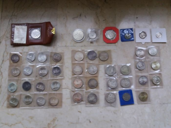 Italy and World - Lot of silver coins
