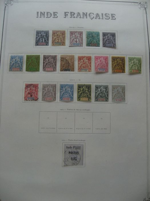 Former French colonies, India 1892/1948 - Almost full collection including airmail and duty