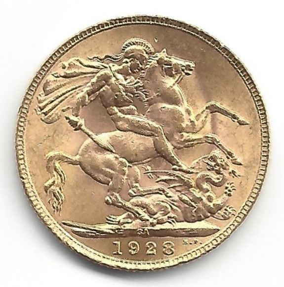 South Africa - Sovereign 1928 - George V - Gold