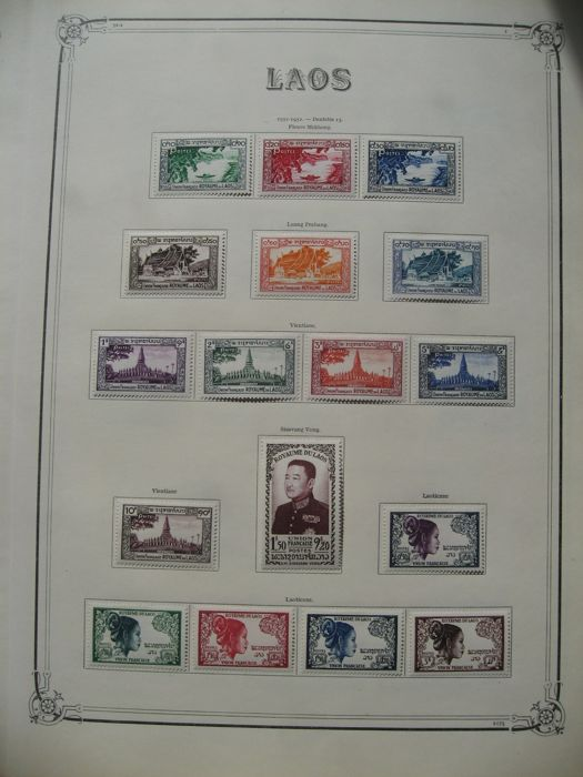 Laos 1950/1970 - Collection of stamps, almost complete, including postage due and sheetlets
