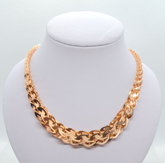 14K / 585 Gold Necklace, total weight 11.39 gr - lenght 45 cm