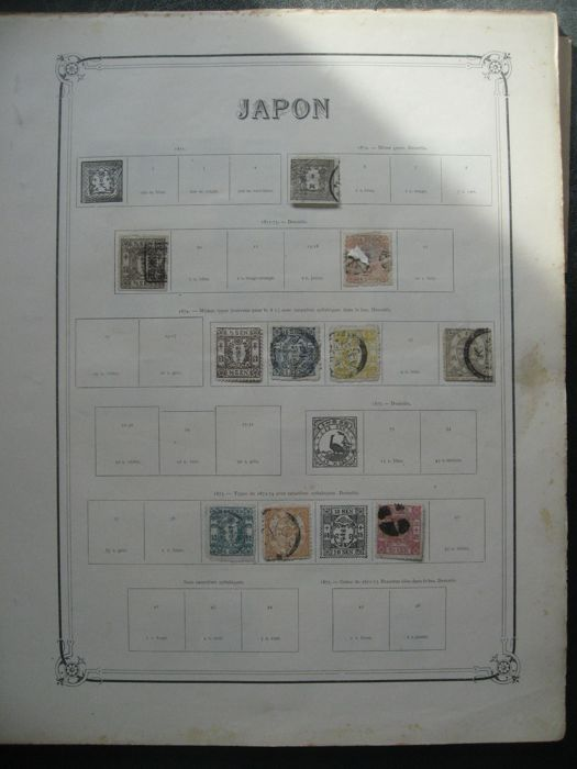 Japan 1871/1975 - Collection of stamps