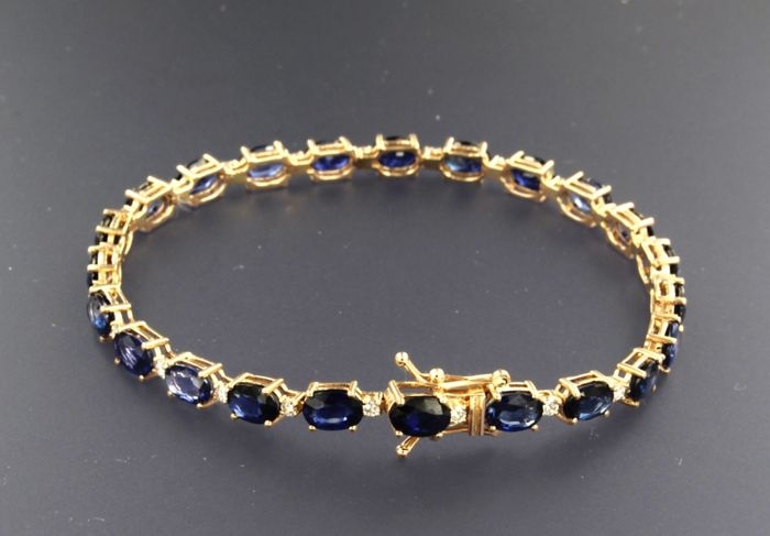 Bracelet - Pink gold - 0.54 ct - Diamond and Sapphire