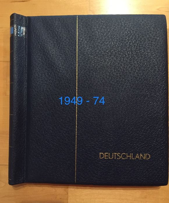 Federal Republic of Germany - 1949 - 1974 - complete collection in a Leuchtturm springback binder