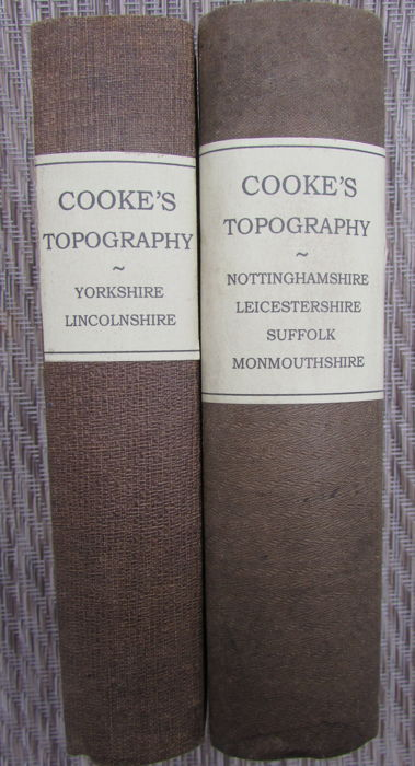 George Alexander Cooke - Two books from Cooke's Topography series  - 1820