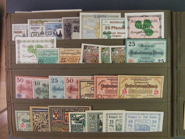 Germany - 308 assorted emergency currency note collection - part II