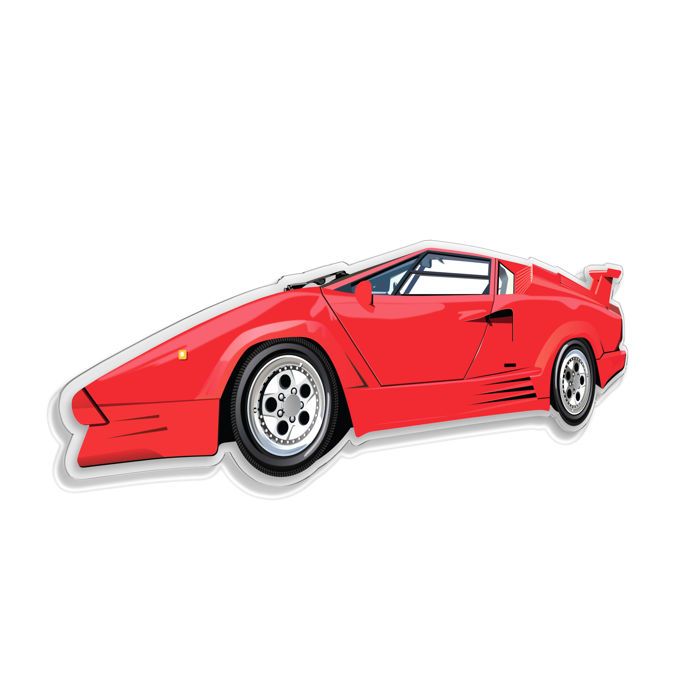 SL - Wall Scale Model Halmo Collection Lamborghini Countach 25th Anniversary