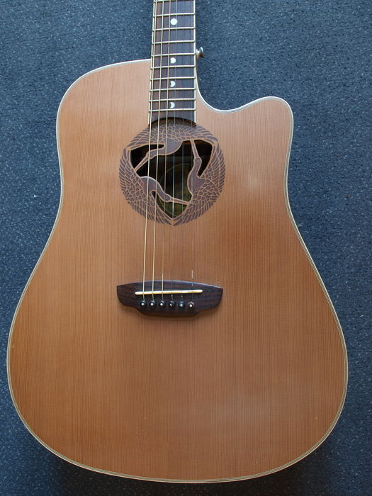 New Luna Oracle Series model Crane electro-acoustic guitar, OCL CRN