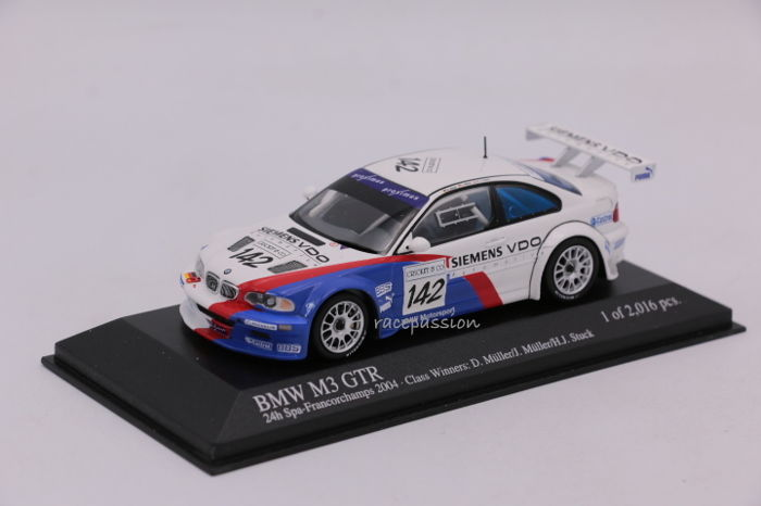 Minichamps - Schaal 1/43 - BMW M3 GTR - 24H Spa - 2004 - Limited Edition
