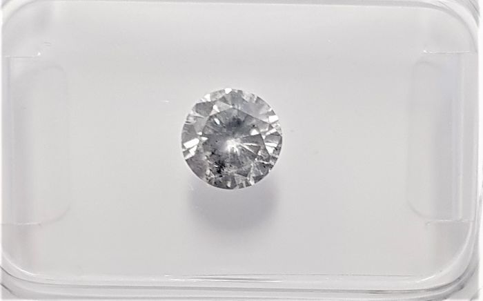 0.58ct Natural Round Brilliant Cut Diamond Fancy Greyish Silver SI3 3VG - No Reserve!